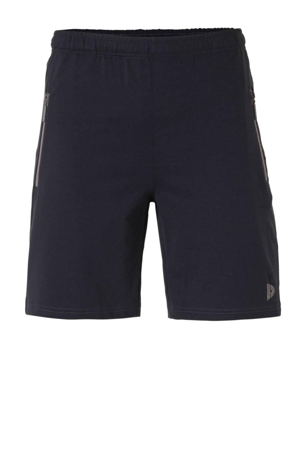 Donnay   joggingshort donkerblauw, Donkerblauw gemeleerd