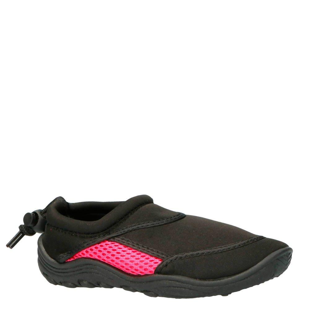 Campri   waterschoenen zwart/roze kids, Zwart/roze