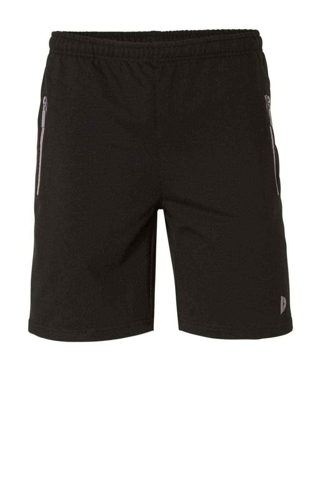 Donnay   joggingshort zwart gemeleerd, Zwart gemeleerd