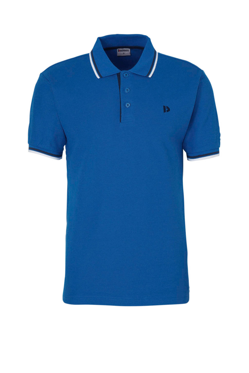 Donnay   sportpolo koningsblauw, Koningsblauw