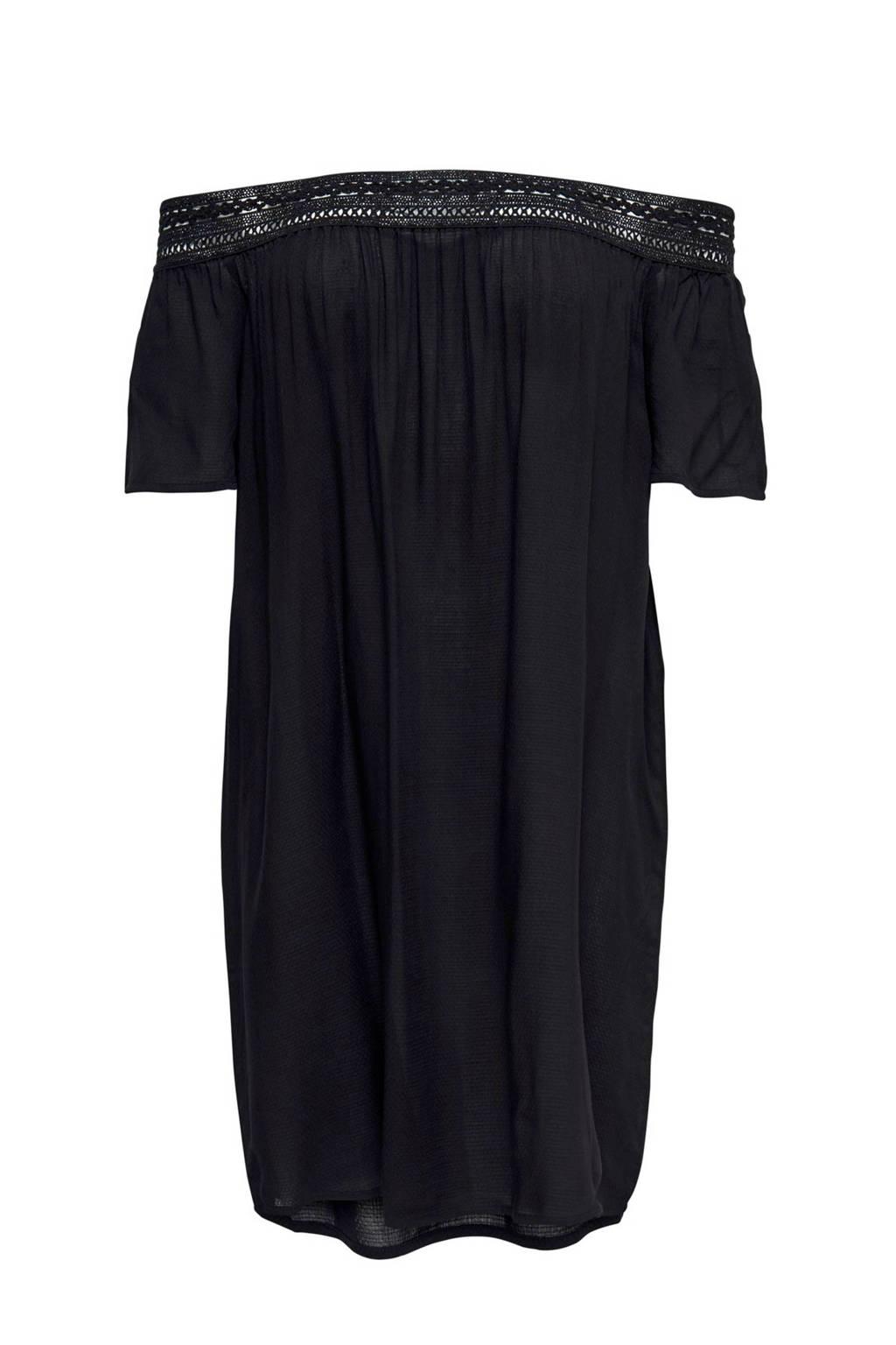 JACQUELINE DE YONG off shoulder jurk, Zwart