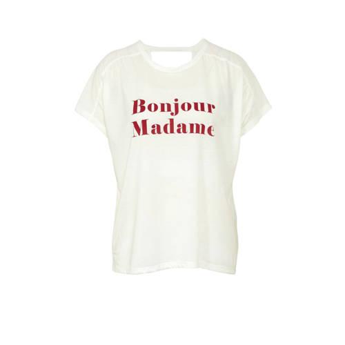 JACQUELINE DE YONG T-shirt met tekstopdruk wit kopen