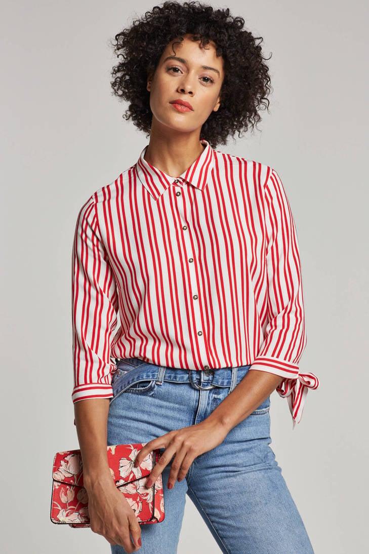 strik YONG met details gestreepte DE JACQUELINE blouse FXw7080q