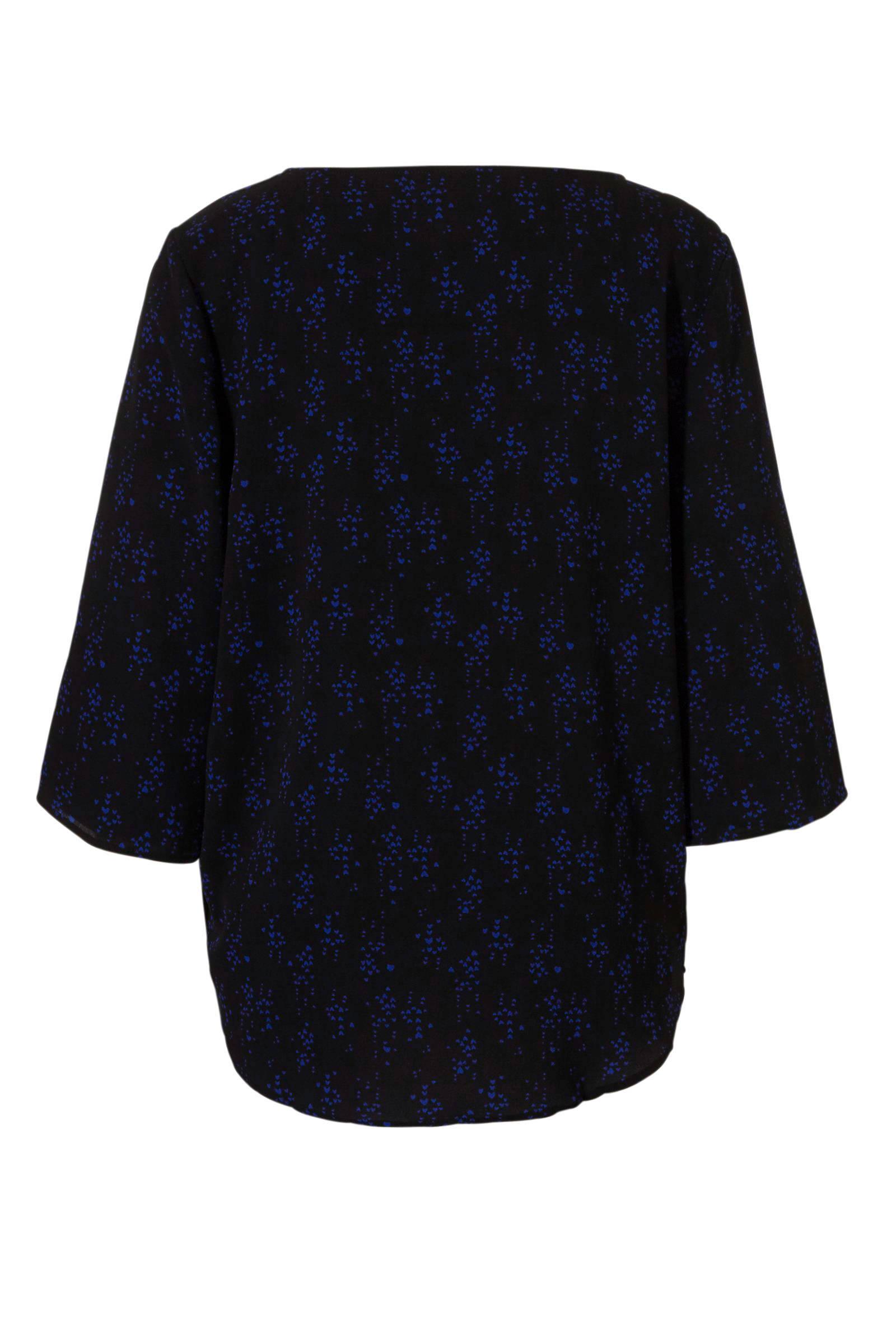 print YONG met over all JACQUELINE zwart blouse DE 8fUqY