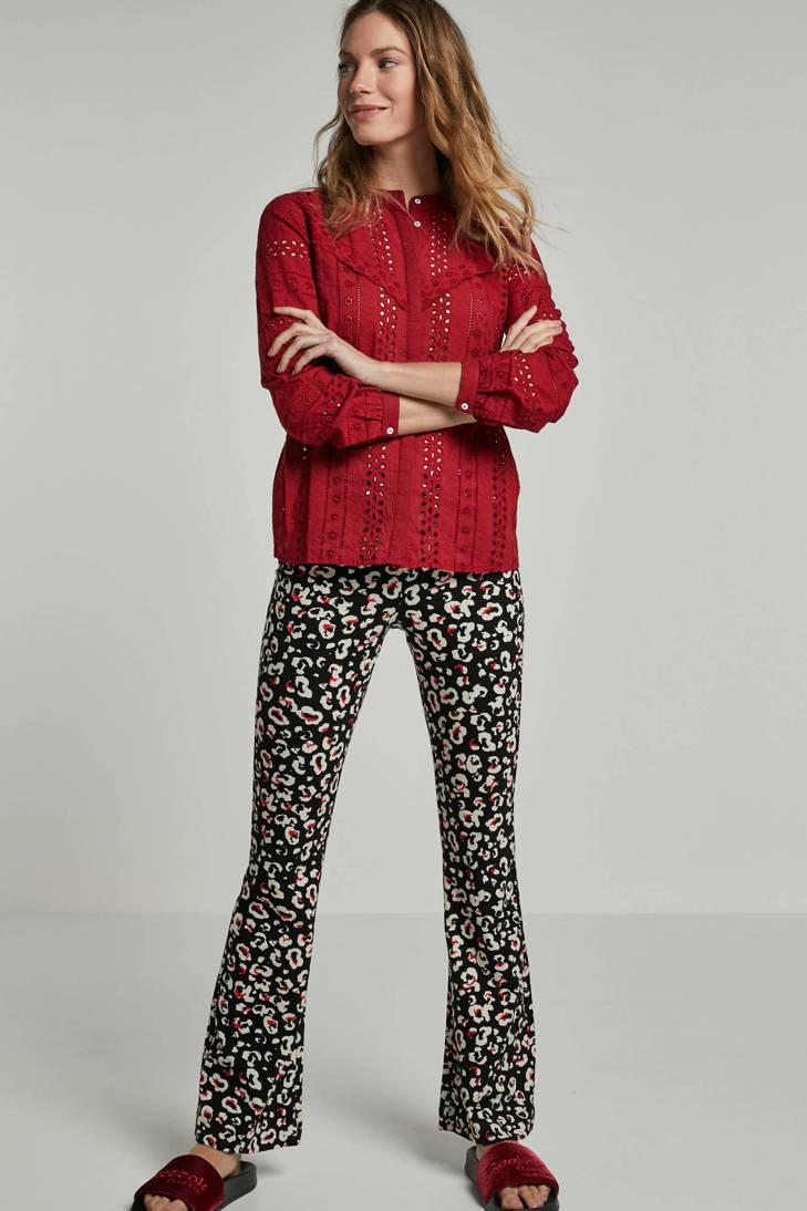 rood ONLY kant blouse met ONLY blouse f6vq4v