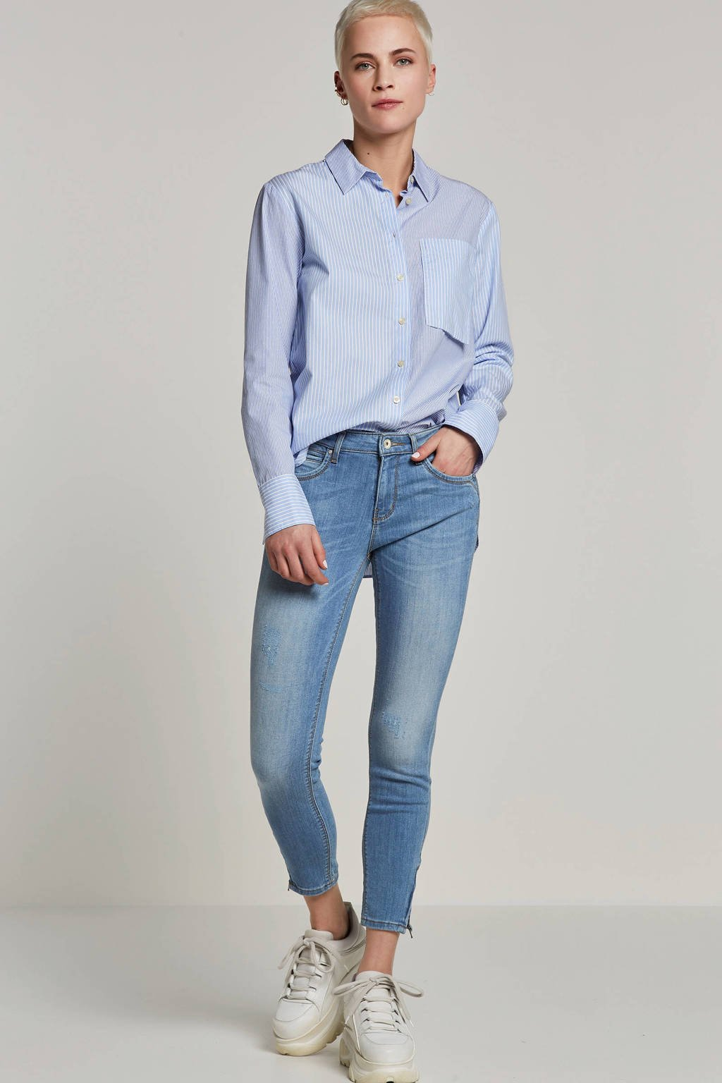 ONLY skinny fit jeans, Lichtblauw