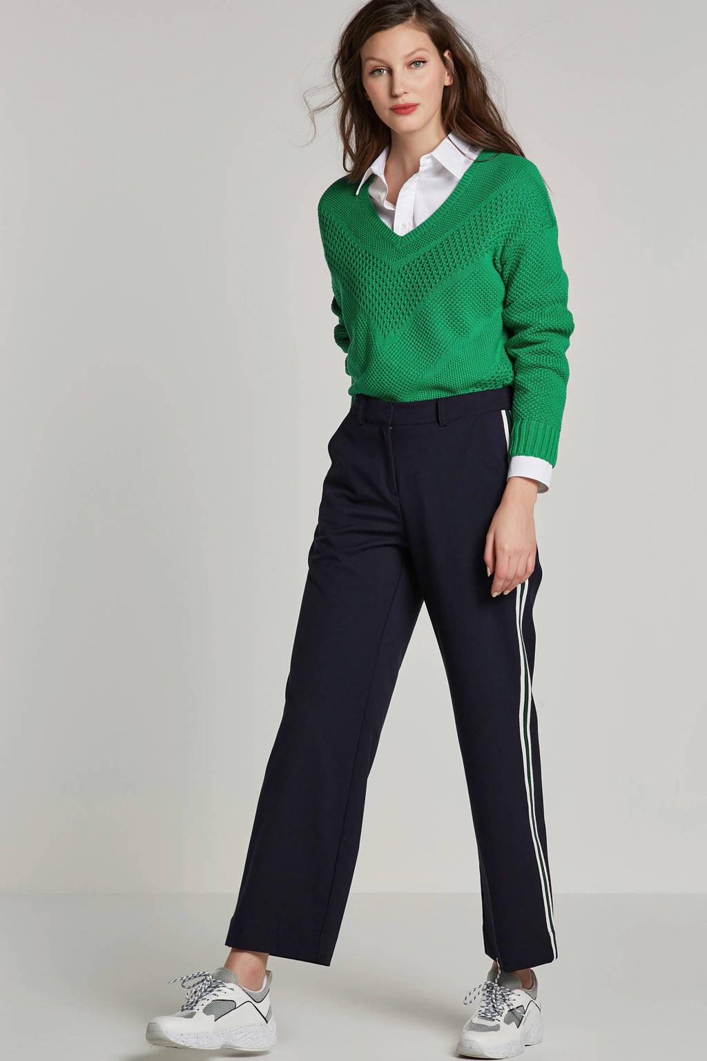 ONLY gebreide trui met V-hals, Groen