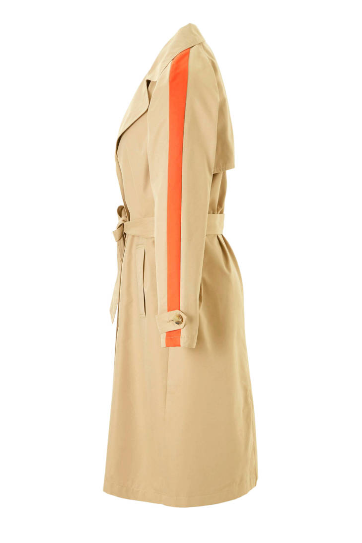 trenchcoat streep oranje trenchcoat ONLY oranje trenchcoat met ONLY met streep met ONLY BY6qW6PHwv