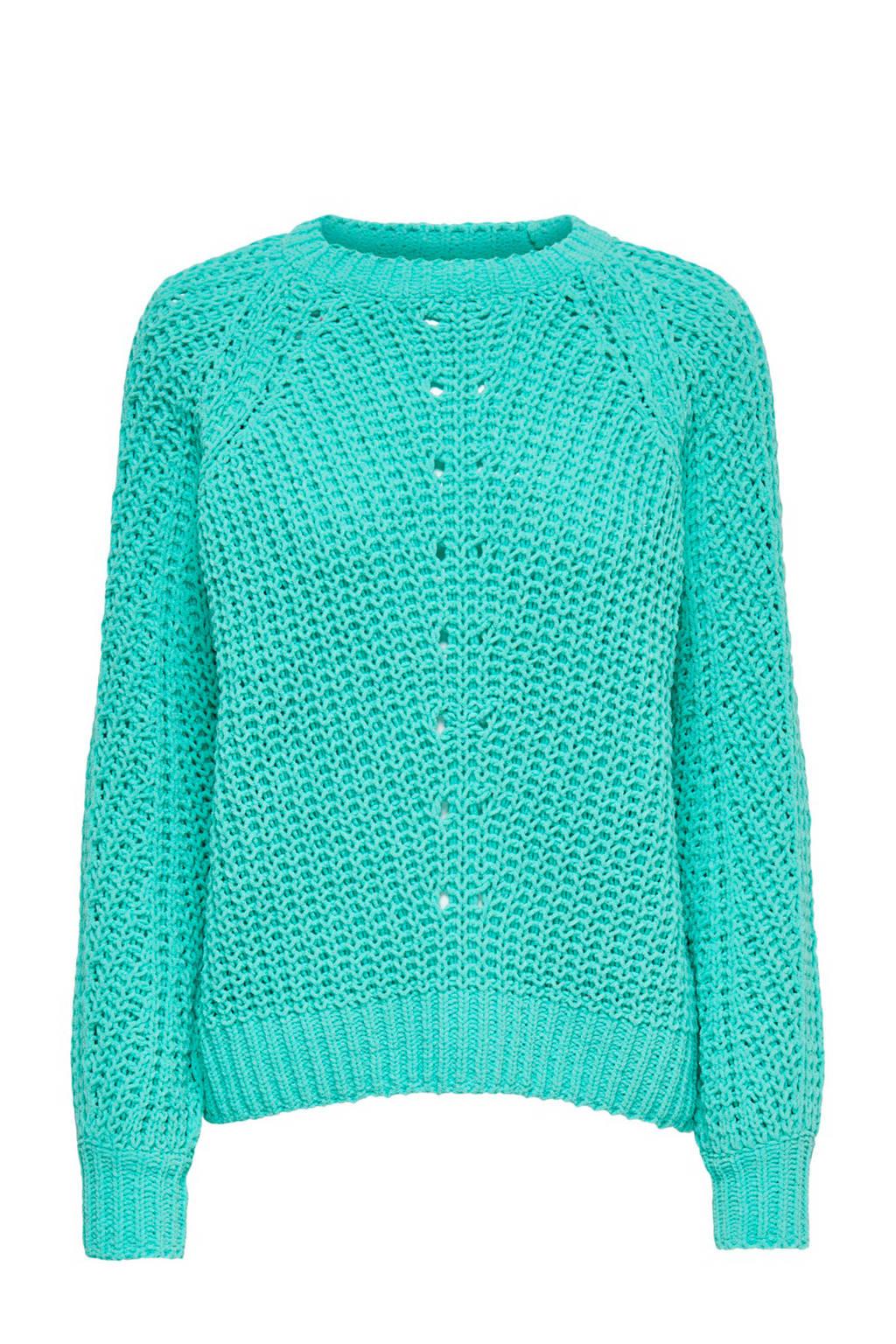 ONLY zacht gebreide trui, Groen