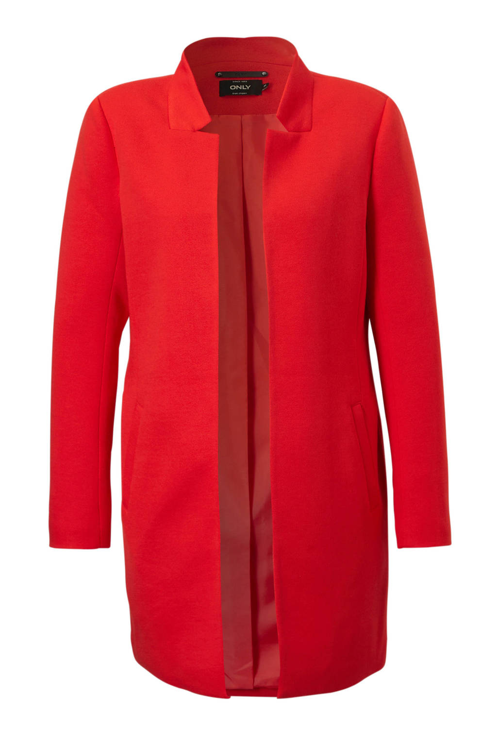 ONLY blazer lang, Rood