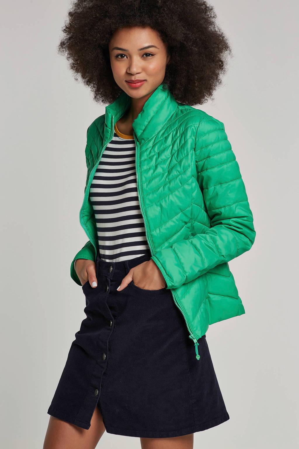 ONLY jas met stiksels groen, Groen