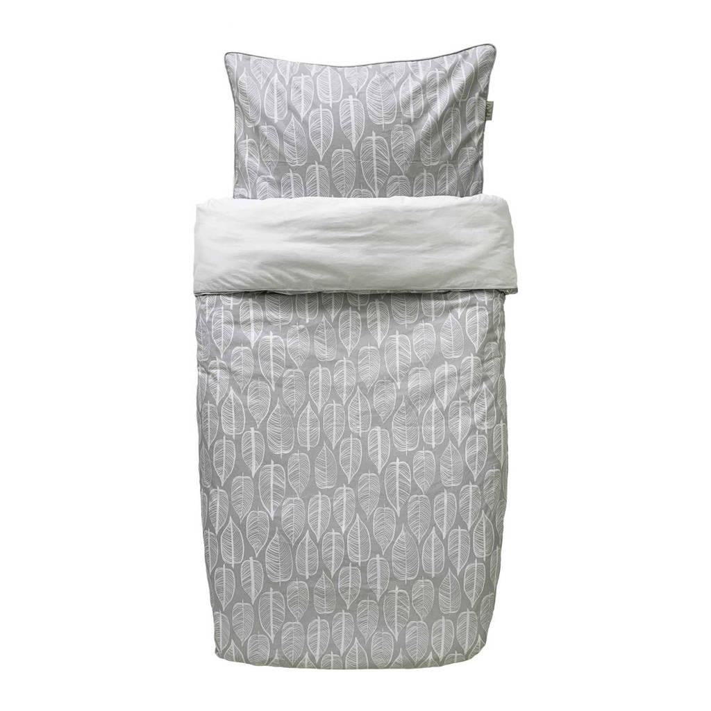 Witlof for kids katoenen junior dekbedovertrek 120x150 cm grijs, Grijs