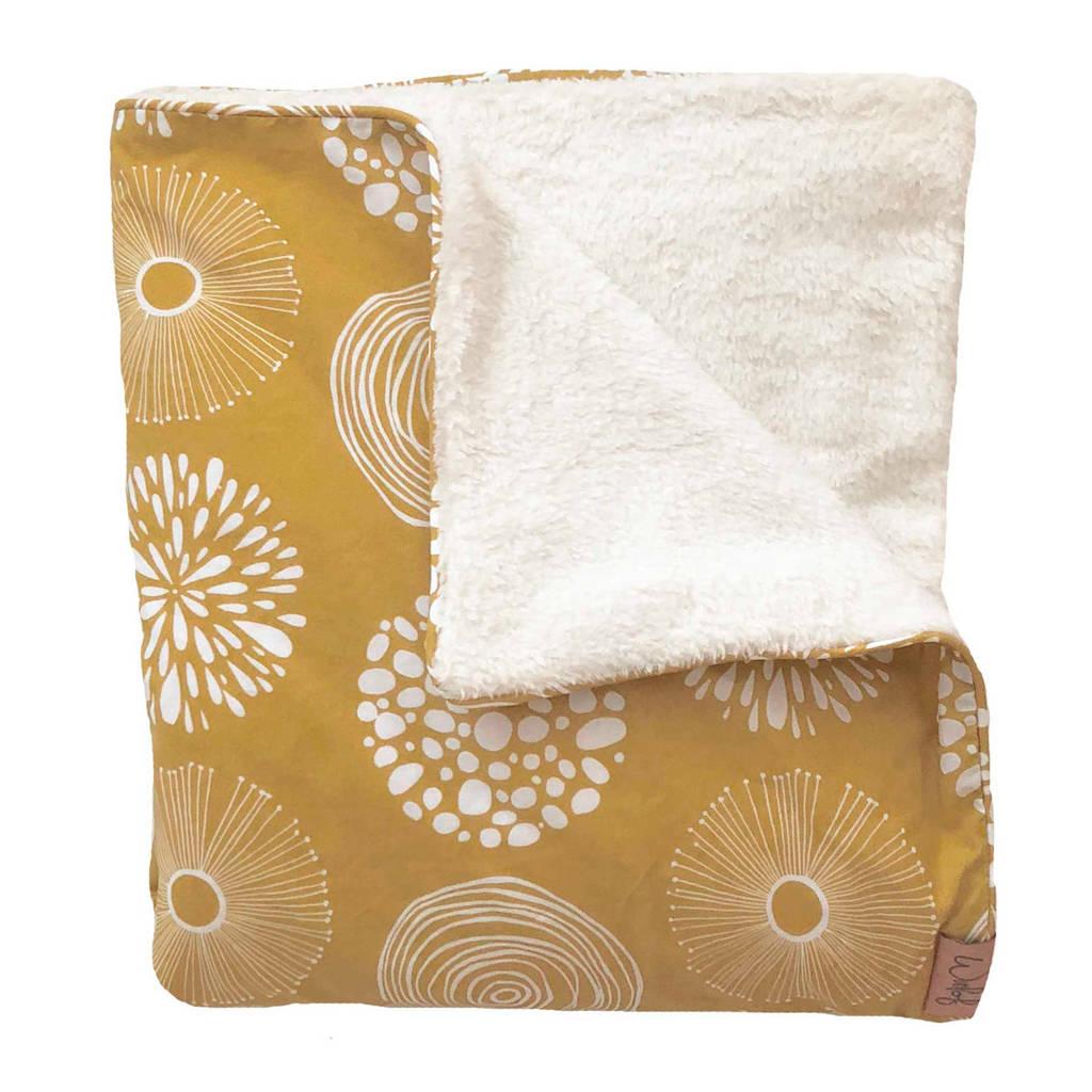 Witlof for kids Tuck-Inn® baby ledikantdeken Sparkle Sweet Honey/offwhite, Okergeel/wit