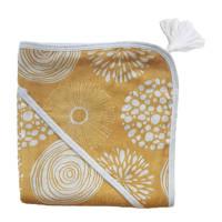 Witlof for kids badcape 100x100 cm Sparkle Sweet honey/offwhite, Okergeel/wit