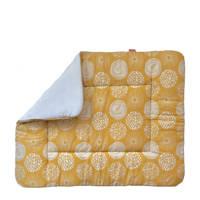Witlof for kids boxkleed 80x100 cm Sparkle Sweet honey/offwhite, Okergeel/wit