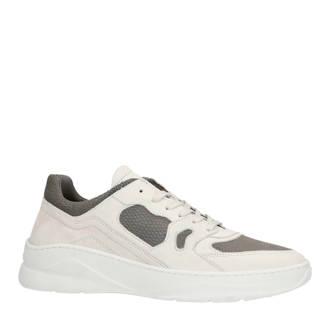 nubuck sneakers wit/grijs