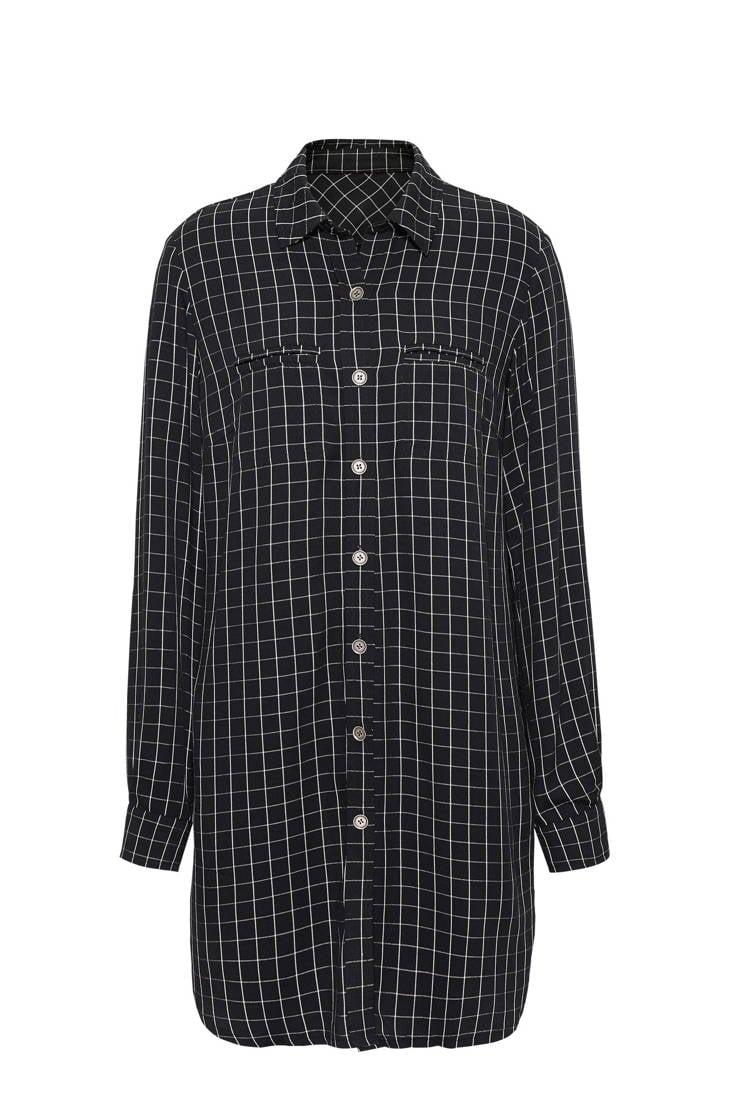 blouse zwart Didi geruite Didi geruite zwart blouse Td0Bw