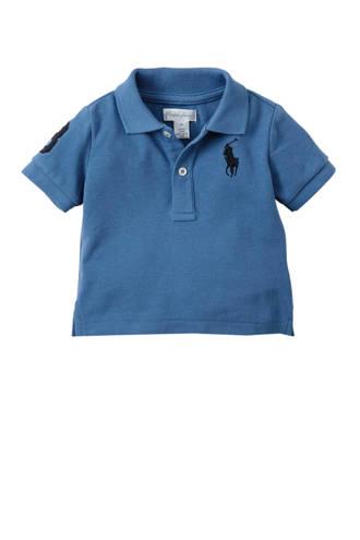 baby polo met borduursel blauw