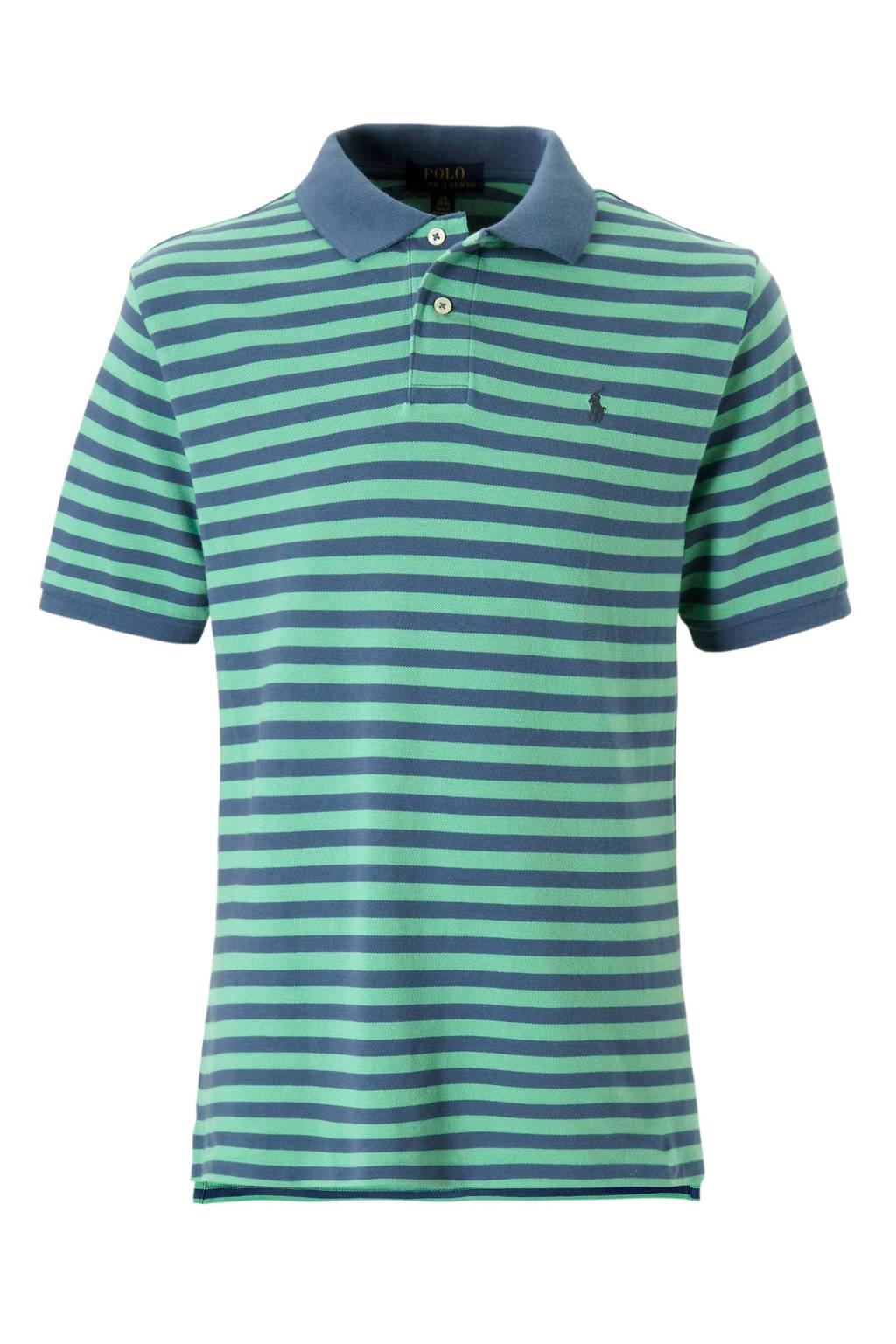POLO Ralph Lauren gestreepte polo groen/blauw, Groen/blauw