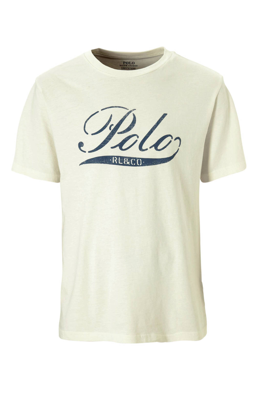 POLO Ralph Lauren T-shirt met logo ecru, Ecru