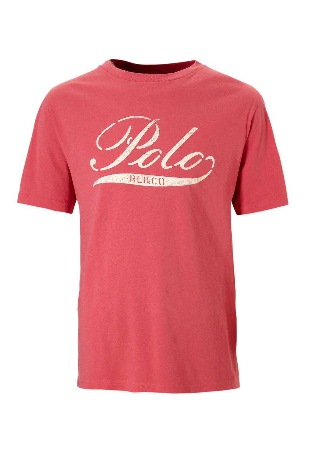 POLO Ralph Lauren T-shirt met logo zachtrood, Zachtrood