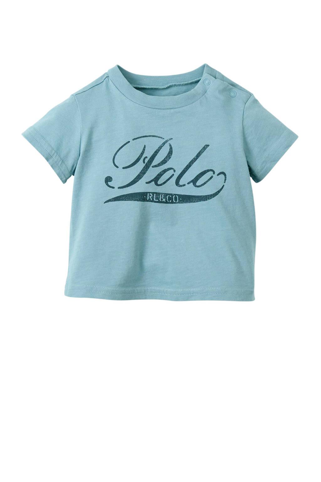 POLO Ralph Lauren baby T-shirt met logo blauwgrijs, Blauwgrijs