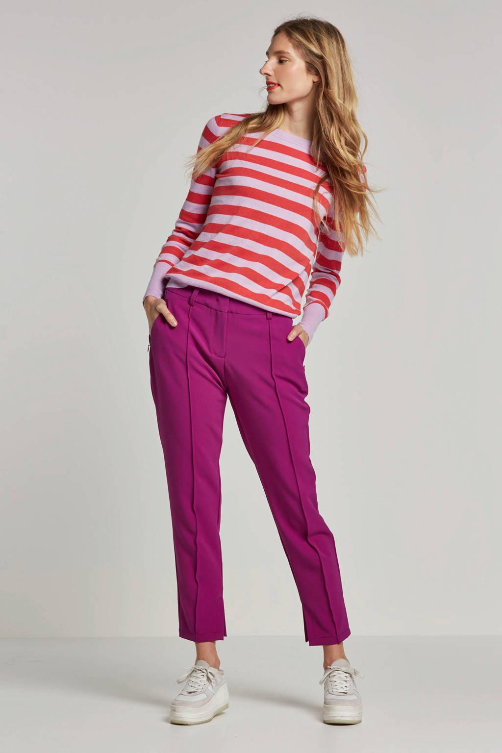 OBJECT trui met strepen, Roze
