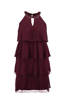 MS Mode jurk van chiffon bordeaux