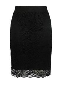 MS Mode kokerrok met kant zwart (dames)