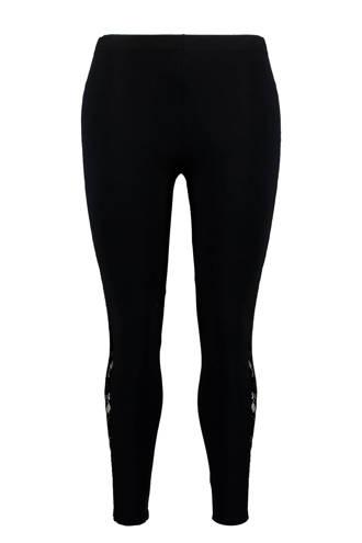 legging met kant zwart