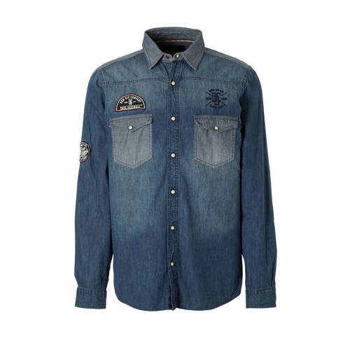 C&A Angelo Litrico denim overhemd met patches