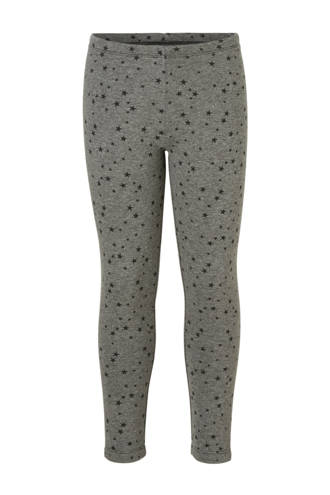 Here & There thermo legging met sterren grijs