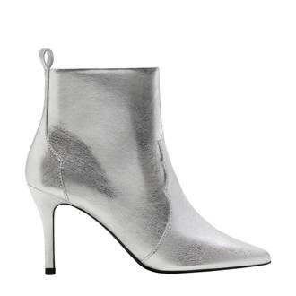 metallic enkellaarzen zilver