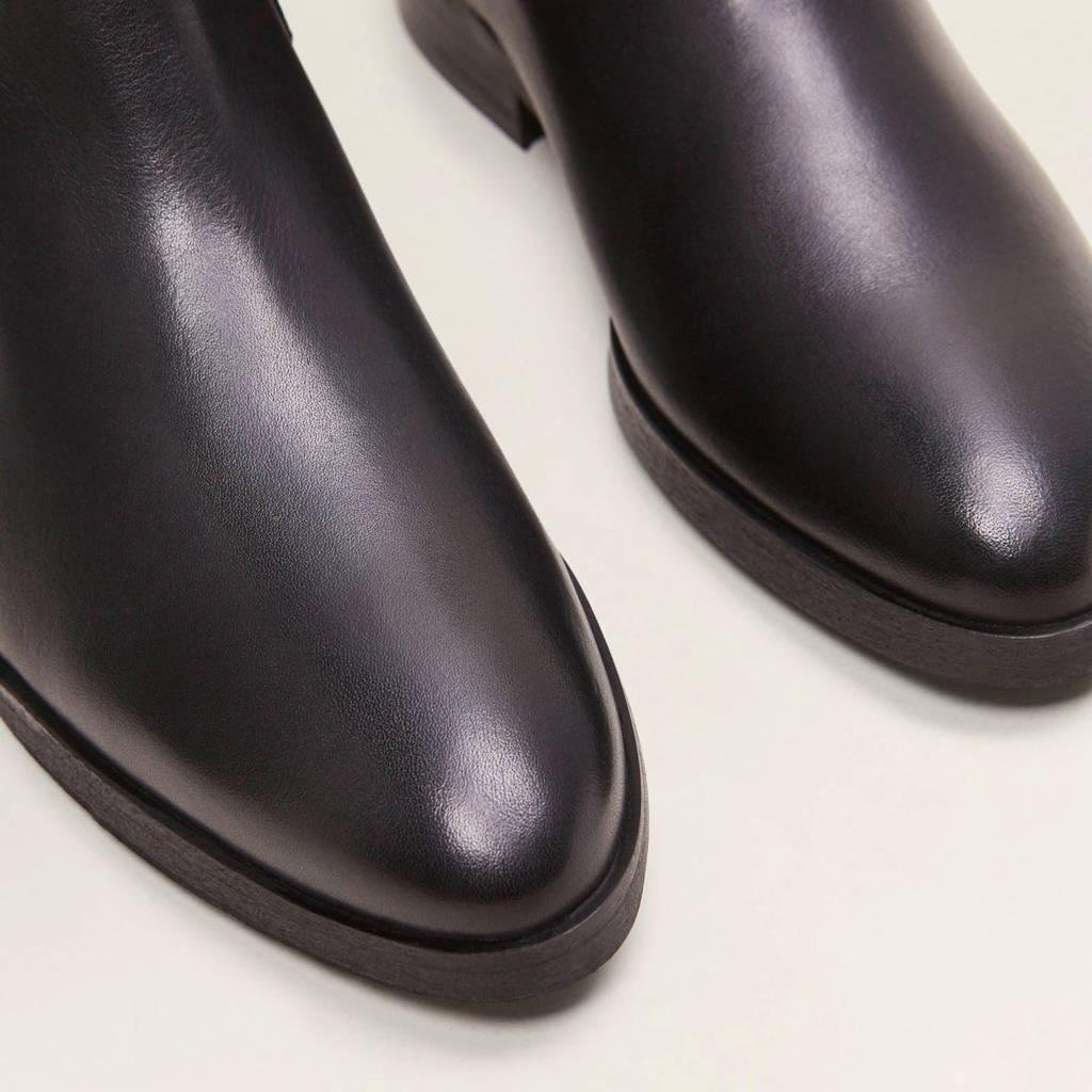 Chelsea Chelsea Zwart Leren Mango Boots Leren Zwart Mango Boots Mango Leren a7nqwd8ax