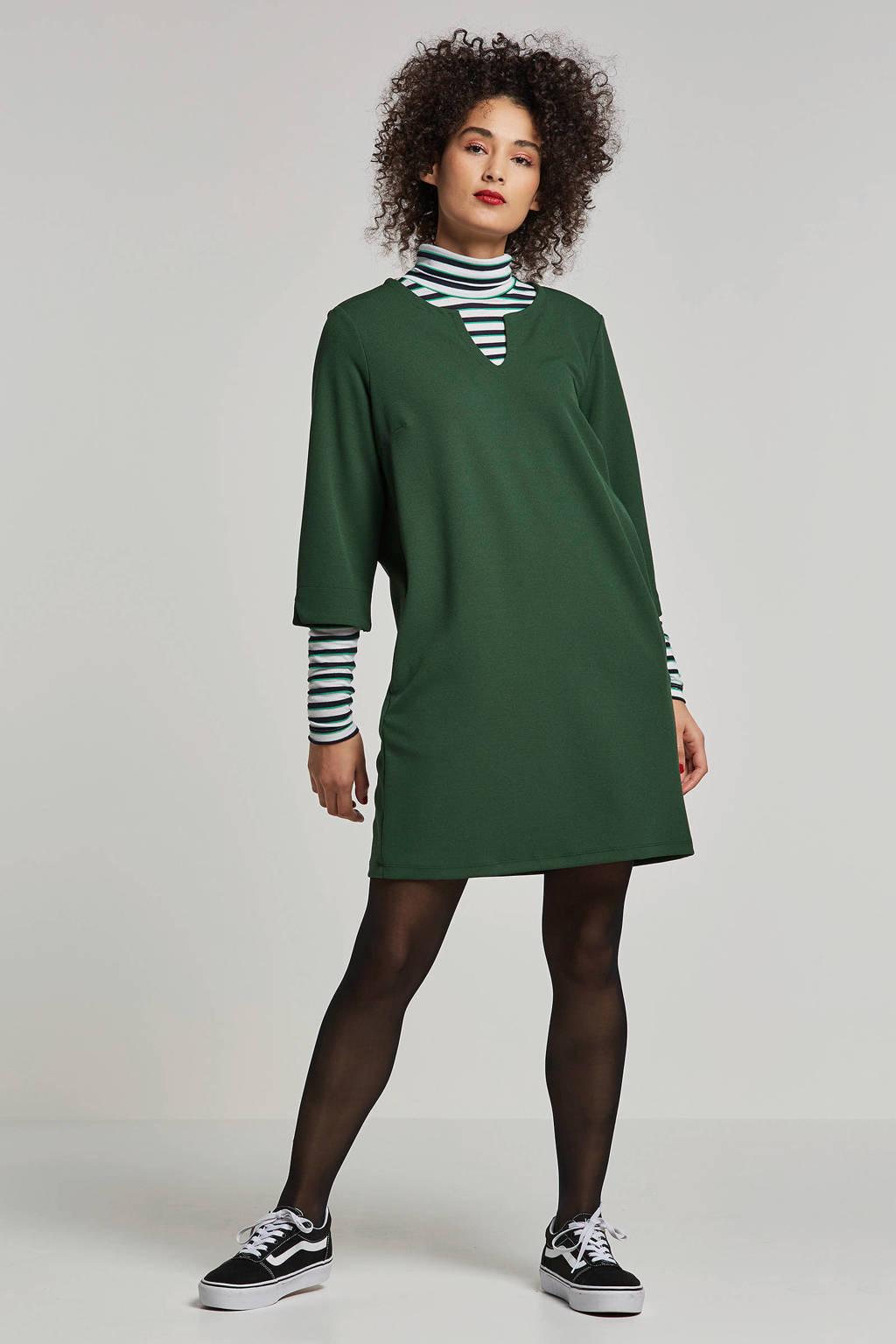 VILA jurk met V-hals, Groen