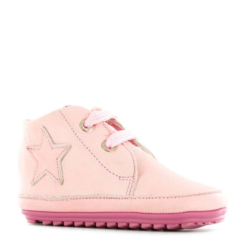 Shoesme   leren babyschoenen met ster roze, Lichtroze