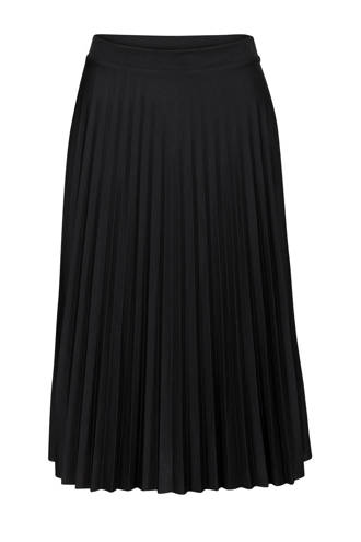 Regulier plisse rok zwart