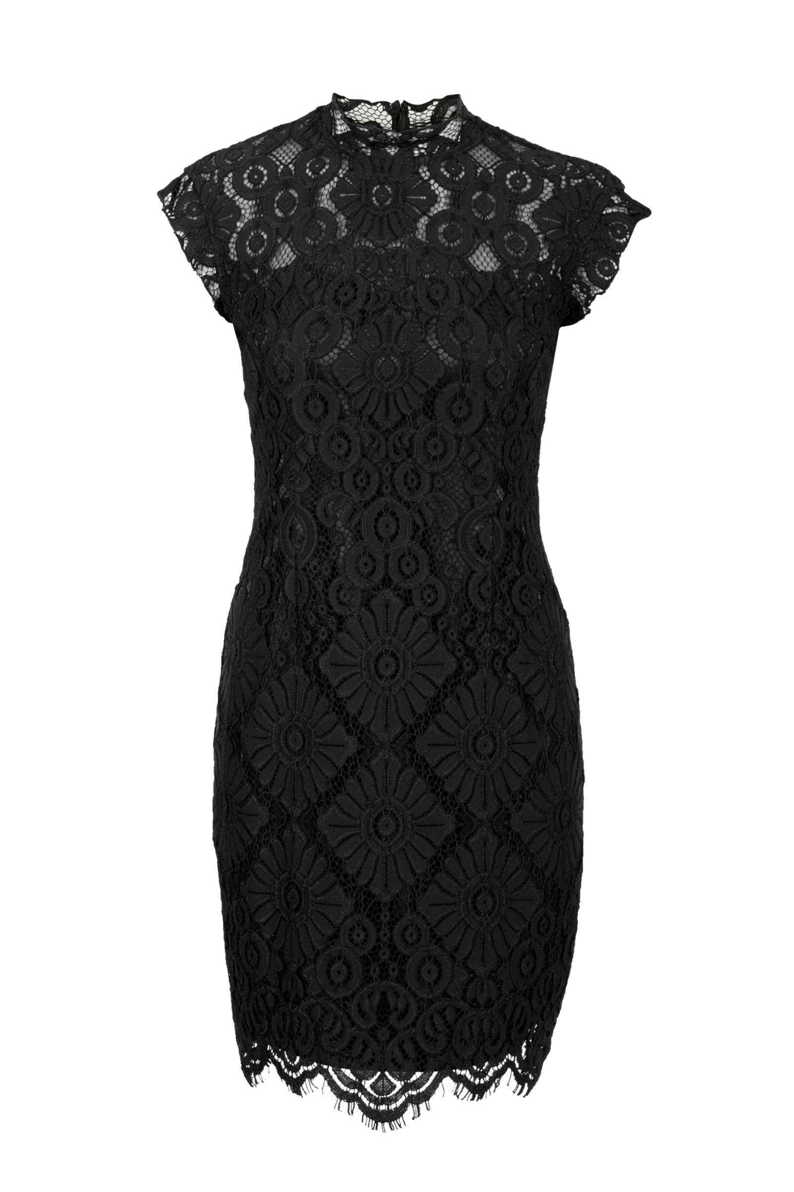 Super Steps kanten jurk zwart | wehkamp EY-53