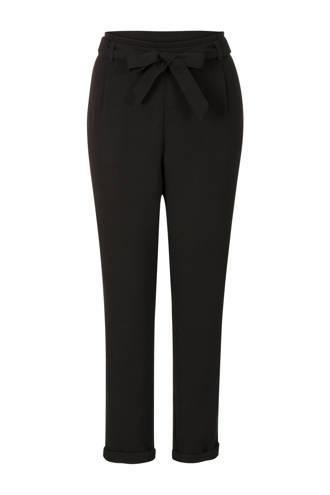 Regulier pantalon met strik zwart