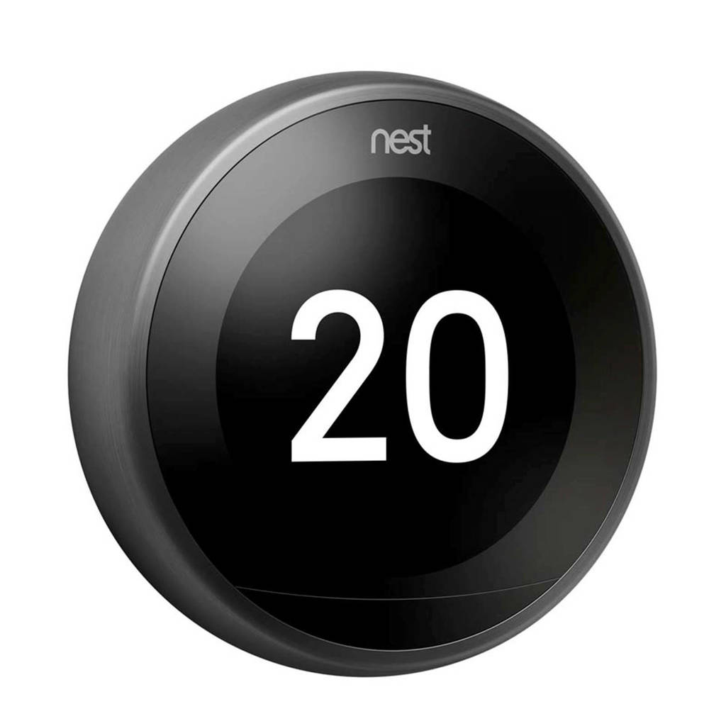 Nest  thermostaat 3RG GEN Black, Zwart