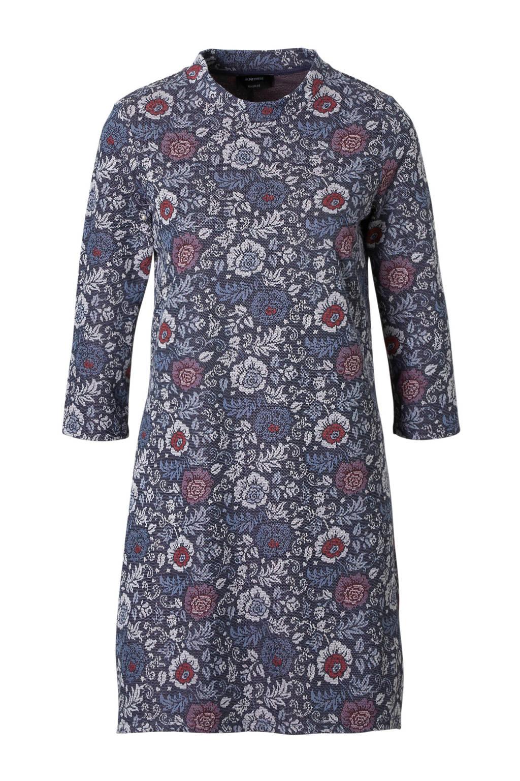 C&A Yessica gebloemde A-lijn jurk, Donkerblauw