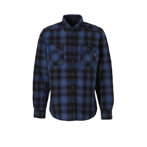 C&A Angelo Litrico geruit overhemd donkerblauw