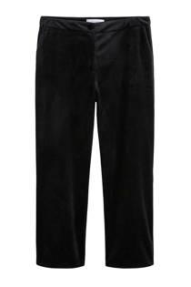 Violeta by Mango fluwelen pantalon zwart (dames)