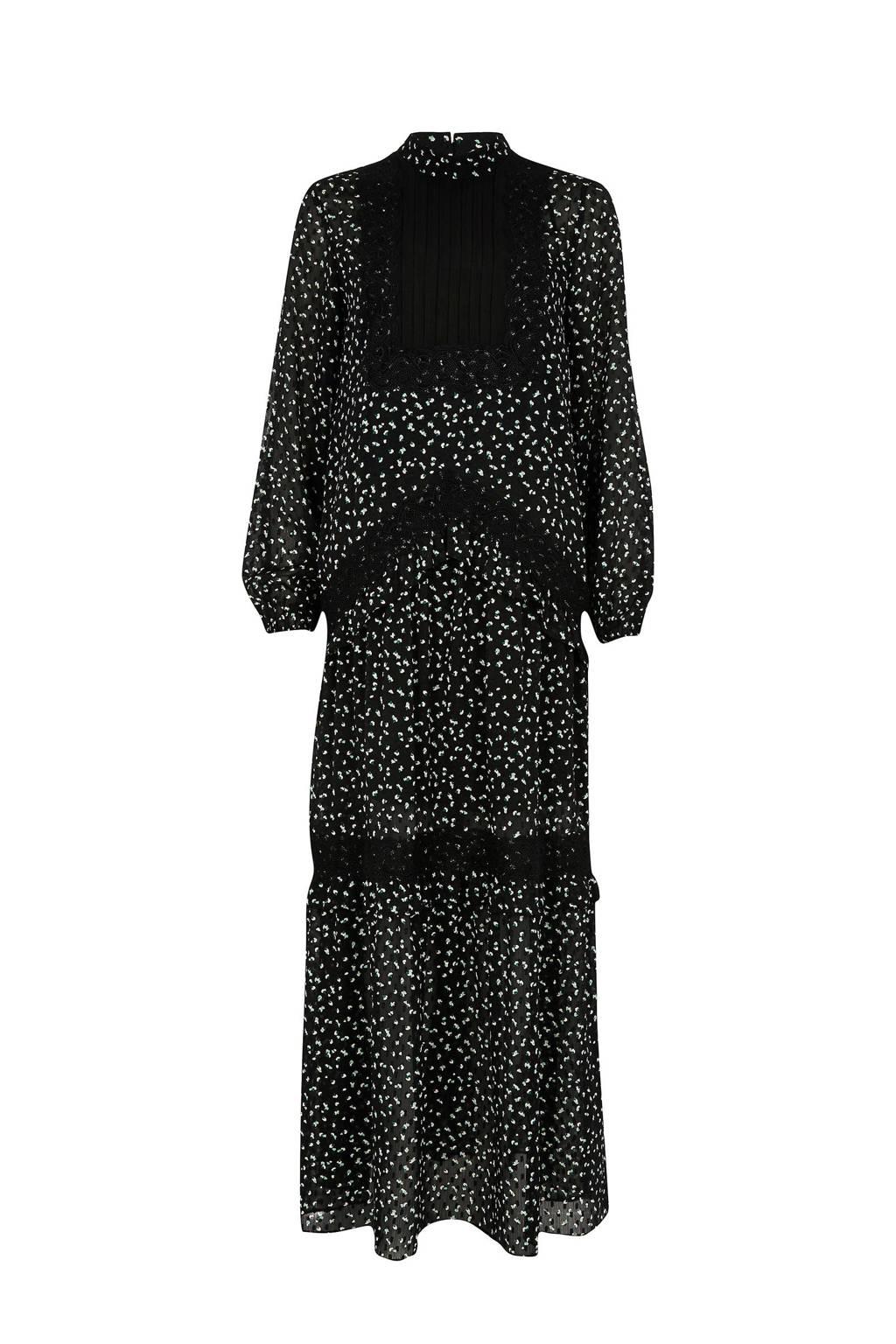 River Island jurk met print, Zwart/wit