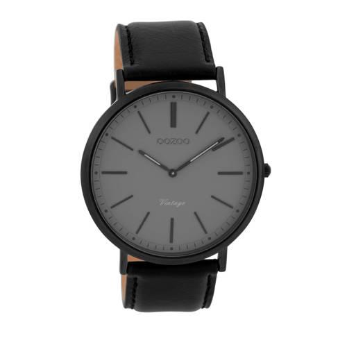 OOZOO Horloge Vintage zwart-zwart 44 mm C9350