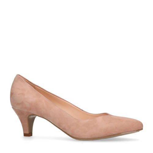 Manfield su??de pumps roze