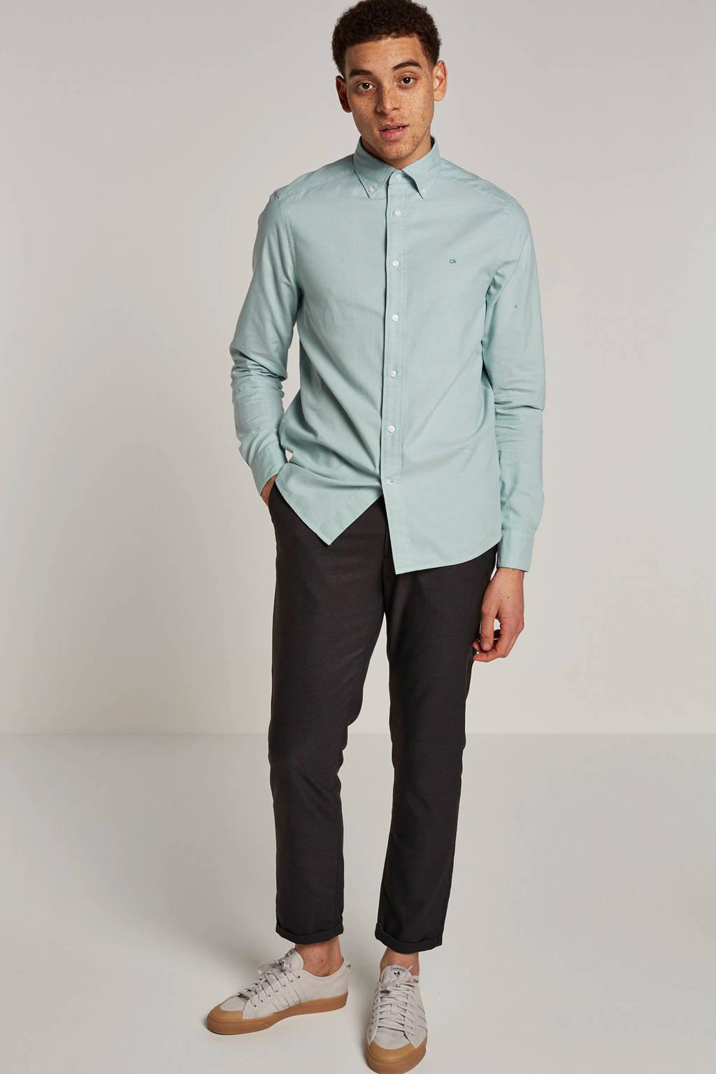 Calvin Klein slim fit overhemd, Groen
