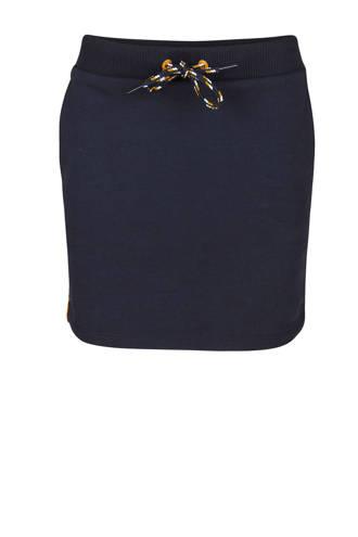 rok met luipaardprint blauw