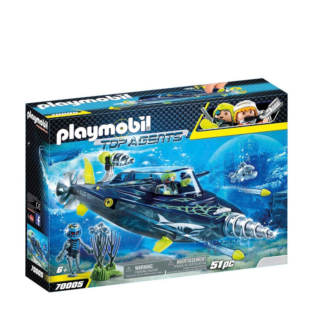 Playmobil Top Agents Team Shark Drilonderzeeër 70005