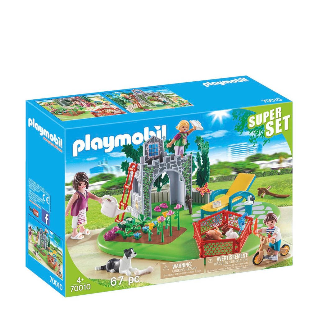Playmobil SuperSet Familietuin 70010